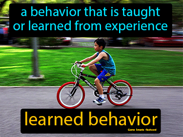 Learned Behavior Definition Flashcard