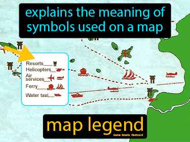 Map Legend Definition Flashcard