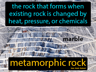 Metamorphic Rock Definition Flashcard