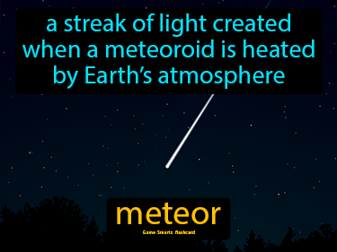 Meteor Definition Flashcard