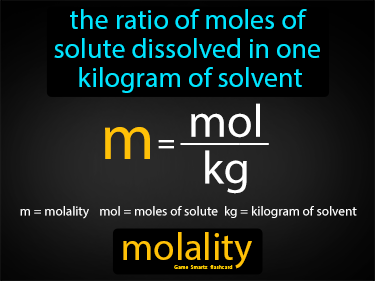 Molality Definition Flashcard