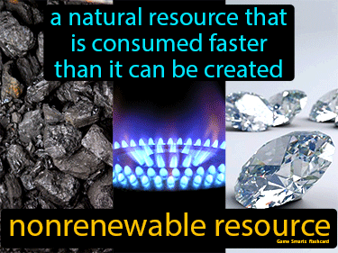 Nonrenewable Resource Definition Flashcard