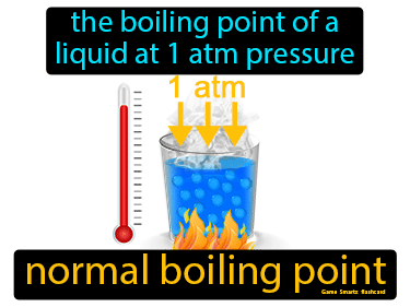 Normal Boiling Point Definition Flashcard