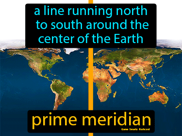 Prime Meridian Definition Flashcard