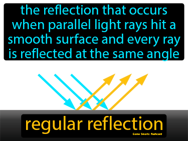 Regular Reflection Definition Flashcard