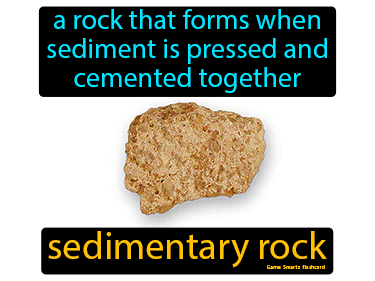 Sedimentary Rock Definition Flashcard