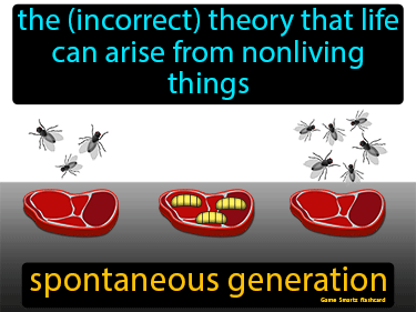 Spontaneous Generation Science Definition