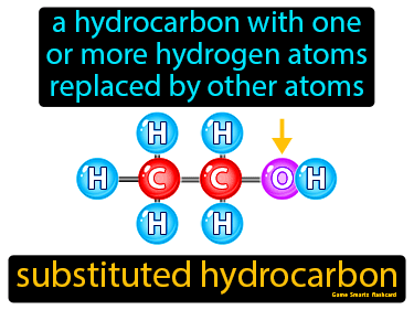 Substituted Hydrocarbon Definition Flashcard
