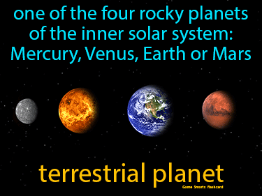 Terrestrial Planet Definition Flashcard