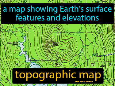 Topographic Map Definition Flashcard