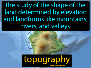 Topography Definition Flashcard