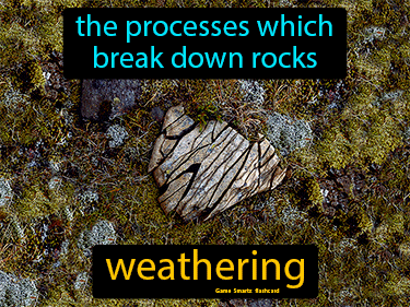 Weathering Definition Flashcard
