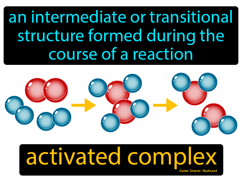 Activated Complex Definition: An intermediate or transitional structure formed during the course of a reaction. Chemistry