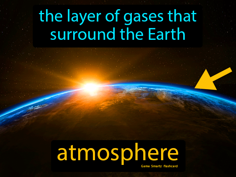 Atmosphere Definition: The layer of gases that surround the earth. Science.