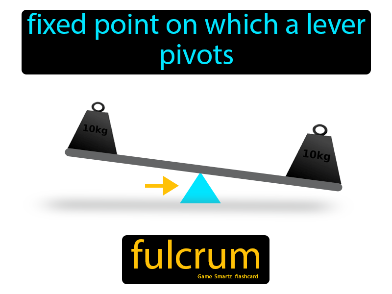 Fulcrum Definition: Fixed point on which a lever pivots. Science.