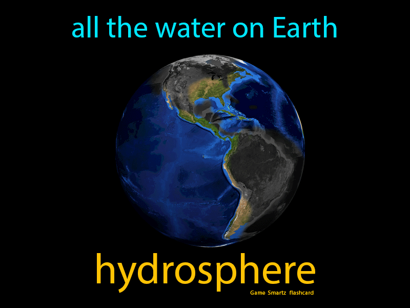 Hydrosphere Definition: All the water on Earth. Science