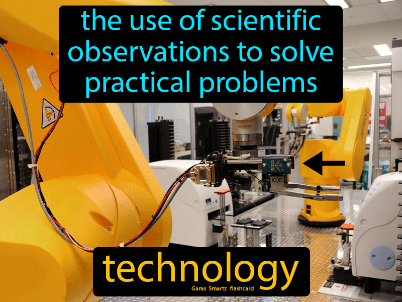Technology Definition: The use of scientific observations to solve practical problems. Physical Science