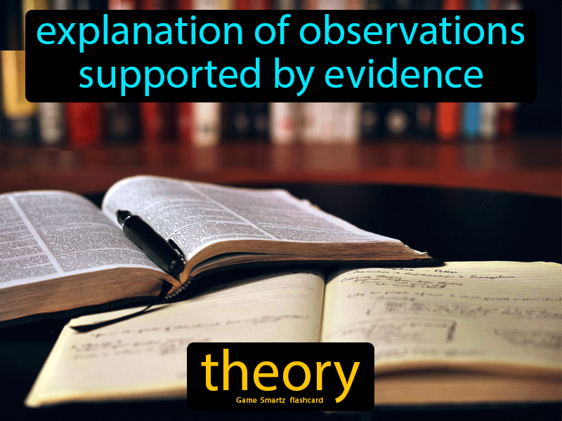 Theory, explanation of observations supported by evidence.